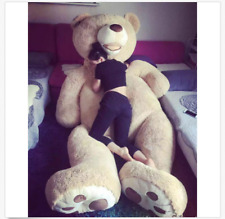 Giant MorisMos Teddy Bear with Big/Footprints Plush COVER ONLY Light Brown 130CM