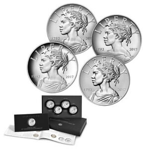 2017 American Liberty 225th Anniversary Silver 4pc Medal Set (OGP/COA)