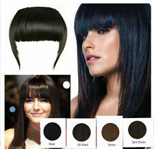 100% real human hair clip on fringes, Light brown color 4# Clip in Front bangs