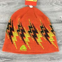 Nike Beanie Junior Kids Hat Fleece Lining Warm Winter 8 - 16 Yrs Orange A561