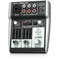 BEHRINGER XENYX 302USB 5-Channel Analog Mixer USB Audio Interface + Warranty