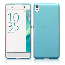 Sony Xperia XA Case Micro Slim Cover Flexible  Impact Resistant Gel Bumper Blue