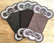 3 cards Brown Vintage German Cotton Thread