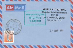 1991 AIR LITTORAL FIRST FLIGHT DUBLIN - PARIS
