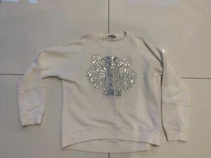 Girls White Kenzo Tiger Sweatshirt Age 14 Excellent Condition