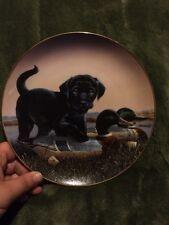 THE SPORTSMEN Phillip Crowe, Finder's Keepers Black Labrador Lab Puppy Dog Plate