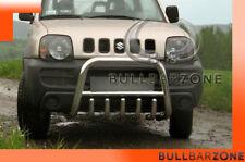 SUZUKI JIMNY 2006+ PARE-BUFFLE BAS AVEC GRILLE DE PROTECTION CARTER EN INOX