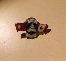 Canada White Trillium Red Ensign OPCL CFL Canada Flag - Enameled