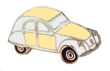 Citreon 2CV Car Yellow Pin Badge - P108A