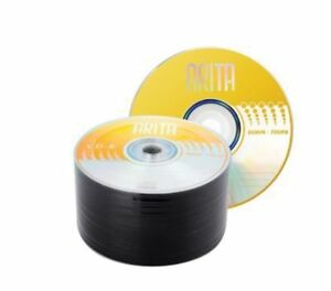50 Arita Gold Blank CD-R 52x CD Discs 700MB 80 mins Made by Ritek