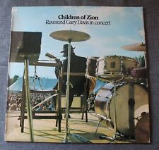 Reverend Gary Davis, in concert - children of Zion,  LP - 33 tours
