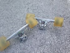 Bear Grizzly 852 Longboard Trucks Black and Silver Crackle