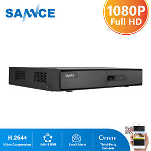 SANNCE 8CH 1080P Lite 5IN1 DVR Video Recorder for Home Surveillance Security Kit