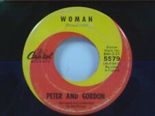 """PETER & GORDON """"WOMAN / WRONG FROM THE START"""" 45"""