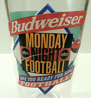 BUDWEISER MONDAY NIGHT FOOTBALL COLLECTOR DRINK GLASS BEER SOUVENIR MNF NFL ABC