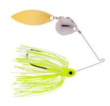 Kajun Boss 1/2 oz White/Chartreuse Spinner bait - colorado/willow