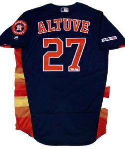 Jose Altuve Houston Astros Signed Auto Majestic Authentic Jersey Fanatics/MLB