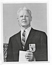 1969 ABC T.V. PRESS PHOTO BUD WILKINSON ABC SPORTS COLLEGE FOOTBALL COVERAGE