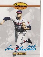 Lew Burdette Milwaukee Braves 1993 Ted Williams Autographed Baseball Card W/COA