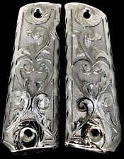 1911 Gun Grips Engraved Cacha Fits Springfield Colt Super Rock Island Kimber