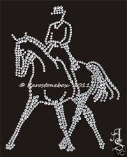 Hotfix Bügelbild Strass Pferd Dressur Horse Traversale gr li.120125 Karostonebox