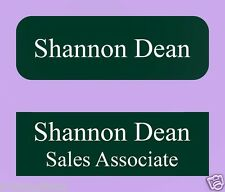 2 1X3 Personalized Plastic Lasered Name Tag Badge 20 Colors Magnet/Pin/Clip Back