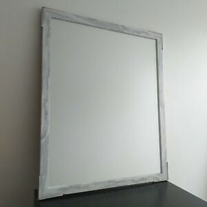 Rectangle Large Marble Effect Wall Mirror Hallway Living Room Dressing Mirror