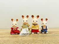 Sylvanian Families Chocolate Rabbit Family Frasier Teri Peppermint Coco Freya