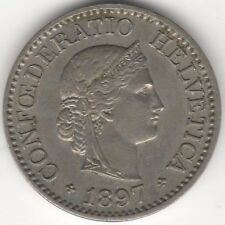 More details for 1897 switzerland 10 rappen coin | european coins | pennies2pounds