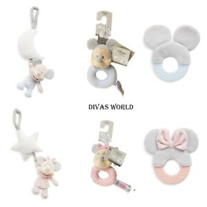 Disney Ring Rattle Teether Mickey Minnie Mouse Soft Plush Kids Toys Gift Toy NEW