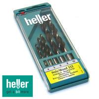 HELLER Holzbohrer Satz CV, Bohrerset 5 tlg. Spiralbohrer Holzbohrerset 4-10mm
