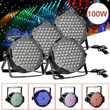 4X 100W LED Light Par 54 DMX RGBW Stage Show lighting DJ Disco Club Party +Plug