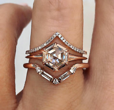 Sterling Silver With Cz Stones For Christmas Three Designer Ring Set Made In 925