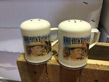 John Wayne Enamelware Salt & Pepper Shakers