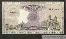 Nederland - Netherlands 20 Gulden Emma 1939 Zf / Vg - DF052274
