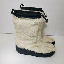 Authentic Prada Sport Fur Wedge Snow Winter Boots Bootie sz 37 #3287 FLAWED
