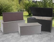 Poly-Rattan Kissenbox HWC-D88, Gartentruhe Auflagenbox Truhe 170l 250l oder 320l