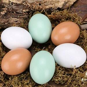 Easter Wooden Fake Dummy Eggs Chicken White Decorative Wood Toy Play Food Lot