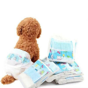10Pc Female Dogs Disposable Diaper Non-woven Fabrics Absorb Water Pet Diaper B