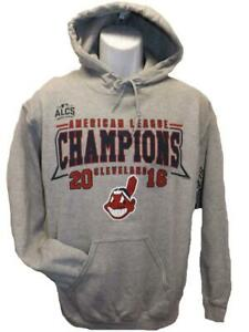 New 2016 World Series Cleveland Indians Mens Size S-M-L High Hands Hoodie