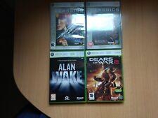 Lote 4 juegos xbox 360 gears of war 1 y 2, perfect dark y allan wake
