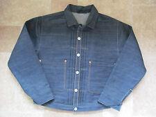Levi's Vintage Clothing LVC 1880 Blu Triplo a Pieghe Camicetta/JKT MED £ 395 nuovo senza etichetta