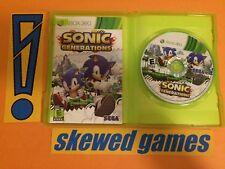 Sonic Generations - Platinum Hits - XBox 360 Microsoft COMPLETE