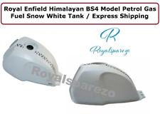 Royal Enfield Himalaya BS4 Modèle Essence Gas Carburant Neige Blanc Réservoir
