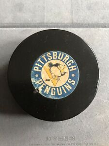 Rare Vintage 1970's Pittsburgh Penguins Art Ross Converse Official Game Puck!!