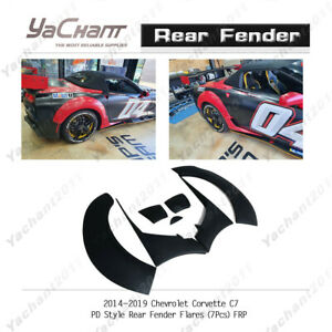 FRP Guard Fit For 14-19 Chevrolet Corvette C7 PD-Style Rear Fender Flare 7PCS