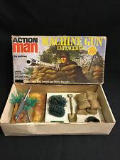 VINTAGE ACTION MAN - ORIGINAL MACHINE GUN EMPLACEMENT with Box.