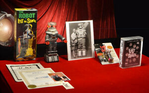 Signed BOB MAY (RIP) Lost In Space ROBOT Model POLAR LIGHTS MIB, COA, DVD & MORE