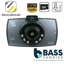 Scosche DDVR28G - 1080p HD Night Vision 12v/24v 8GB Car Dash Cam Accident Camera