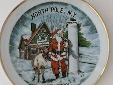 Small Vintage Souvenir Plate NORTH POLE,  New York  Santa's Workshop